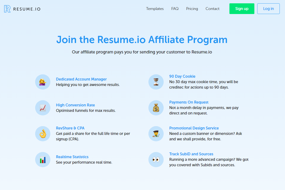 resumeio affiliate program reviews adswikia. Resume Example. Resume CV Cover Letter