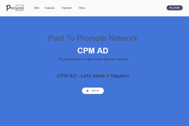 CPM AD Review - PTP Network | ADSWikia